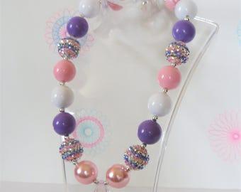 Girls Chunky Bubblegum Neckalace, Chunky Necklace, Girls Jewelry, Little Girls Bubblegum Necklace, Chunky Bead Necklace, Toddler Jewelry