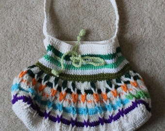 Multi-color Crochet Purse