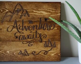 Adventure Awaits engraved