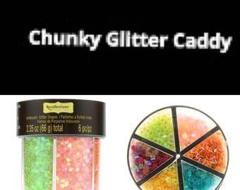 Iridescent Glitter Caddy