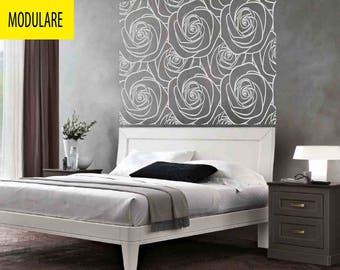 Modular roses - Wall stickers, wall decals, wall art, wall decor, texture stickers, modular stickers, modular decals, texture decals