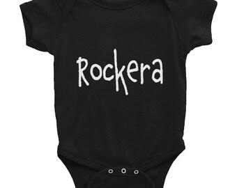 Rockera Infant Bodysuit NB-24mos / Rock N Roll Rock Star Baby Onesie