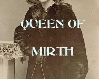 QUEEN of MIRTH Vintage photo beautiful young woman women photos  photograph old photo  instant download digital