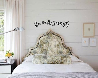 Be Our Guest Room Art Wall Decor Wood Word Cut Outs For Guest Bedroom