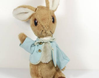 Eden Toys Peter Rabbit Stuffed Plush Rabbit - Easter Bunny Beatrix Potter Vintage New Baby Gift
