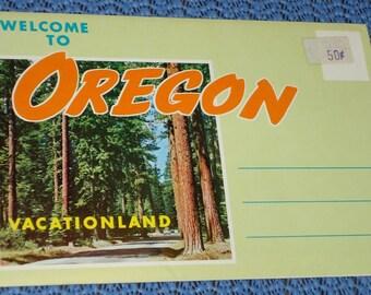 Vintage Oregon Photos, Vintage Portland Road Map, Vintage Oregon Postcard