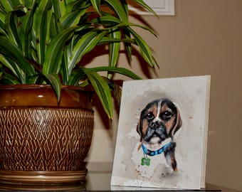 Custom Pet Portraits (Acrylic Painting)