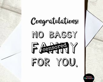 Funny New Baby Card | Rude New Baby Card, New Mum Card, Adult New Baby Card, Cards For Best Friend, Joke Card, Swear Word Card, Banter Card