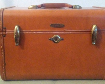 Vintage Samsonite Train Case Suitcase Travel w/ Makeup Insert