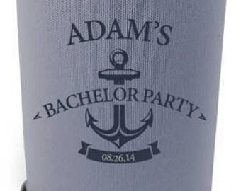 Custom Bachelor Can Cooler || Anchor Logo
