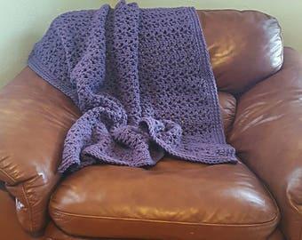 Chunky Blanket, Crochet Afghan - THE ZEL