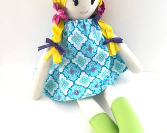 Sophia ArieDollies Doll Handmade Doll Rag Doll Soft Doll  Fabric Doll Cloth Doll Nursery Decor Kids Decor