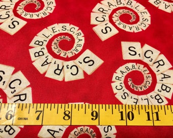 Quilting Treasures Red Scrabble 21214 Cotton Fabric By the Yard