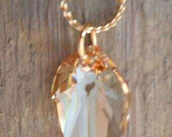 Crystal Leaf Pendant