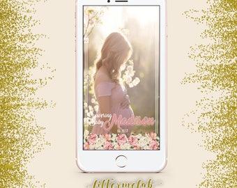 BabyShower Floral Snap Chat Filter