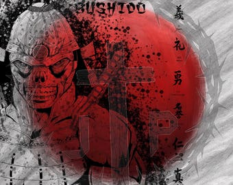 Bushido, warrior, samurai, moral, poster, wall Decor
