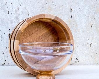 Wooden bowl 170 mm diametr | Kitchen utensil | Cooking lover gift