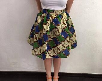 Handmade skirt with fabric wax