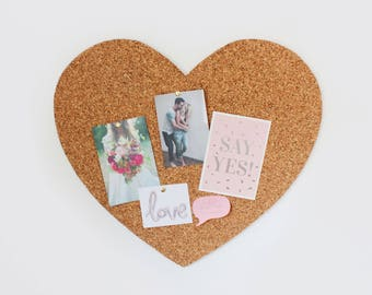 Heart Cork Bulletin Board, memo Board