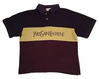 Yves saint laurent Polo shirt Paris Rare shirt / Yves saint laurent shirt / Size L