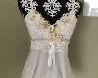 Romantic Bohemian Art To Wear Lace Top by Tattered Magnolia Shabby Chic Wedding Attire