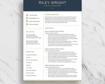Proper Resume Font Modern Resume Template For Word Minimalist Resume Design  Word Resume Template 2007 Word with Babysitting Resume Modern Resume Template For Word  Clean Resume Design  Two Page Resume  Download  Simple Can A Resume Be 2 Pages Word