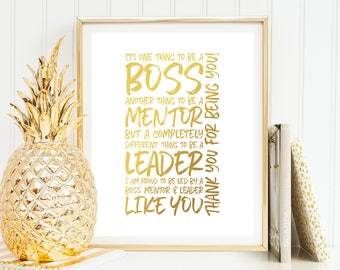 Boss Thank You Gift - It's One Thing To Be a Boss PRINTABLE Boss Day Gift for Boss Appreciation Day Woman Boss Leaving Gift Boss Gift Ideas