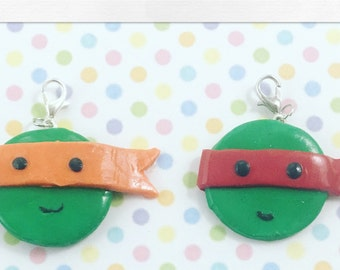 Ninja Turtle Clay Charms
