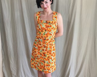 Vintage Poppy Summer Dress Size S/M