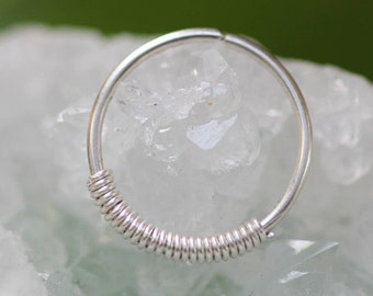 Nose Ring Hoop,Silver Nose Ring, nose ring 20g,tiny nose hoop,piercing hoop,nose hoop