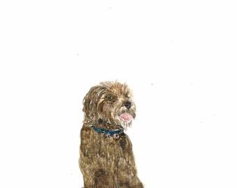 Portrait commission painting of your dog. Present for Mum? Present for Dad? Present for friend? Gift idea.