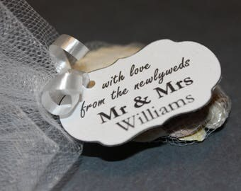 personalized TAGS with love from the newlyweds tag mr and mrs labels