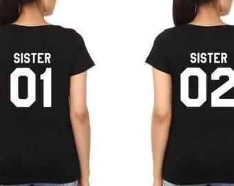 Sisters shirts sister shirts for adults sister tshirts best friend shirts couple shirts matching sister shirts besties shirts sister 01 02