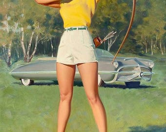 Pinup Bill Medcalf Archer and nice print on matte paper.