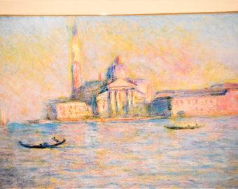 1900's Claude Monet's The Church Of San Giorgio Maggiore, Venice Print Home Decor Home And Living ChooseFlavor