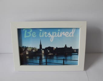 """4""""x6"""" """"Be inspired"""" Photograph of Stockholm, Sweden"""