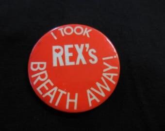 70s Rex Smith Pin Back Button 1970s Teen Heart Throb
