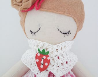Catherine & Strawberry with Cream dress collection and side chignon