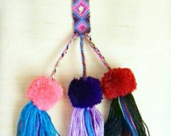 Mexican Pompom Hand embroidered