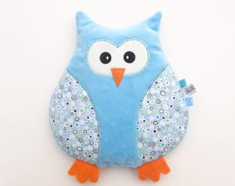 OWL heating velvet blue, hot/cold wheat and lavender - handcrafted heating