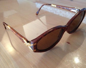 Vintage Woodlook WLG01 Sunglasses (Real wood, gold accents)