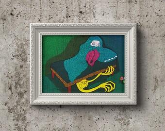 """Mural """"Bedside monster"""""""