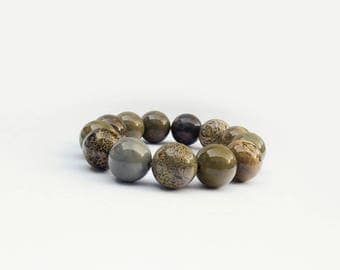 Trendy modern men Accessory Arctic Jasper Beads Bracelet