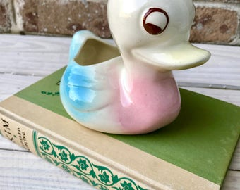 Vintage Duck Planter || Retro Duck Vase