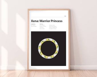 XENA - Alternative Movie Poster - PRINT - Alternative Movie Poster - Lucy Lawless, Renee O'connor - Xena Warrior Princess