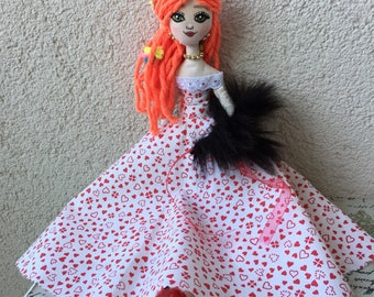 READY TO SHIP,Tilda doll,cloth doll,gift,girl,valentines day,love,fabric doll,handmade,shopier,decoration