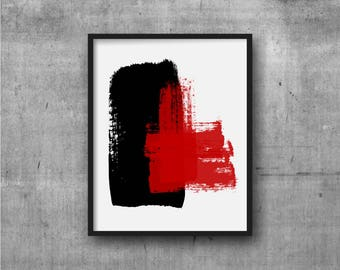 Black & Red Art, Abstract Art, Contemporary Art, Art Print, Abstract painting, Contemporary Painting, Minimal, Minimalist
