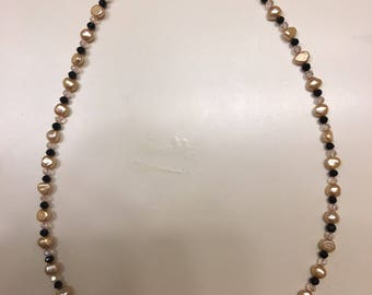 Necklace Pink Freshwater Pearls