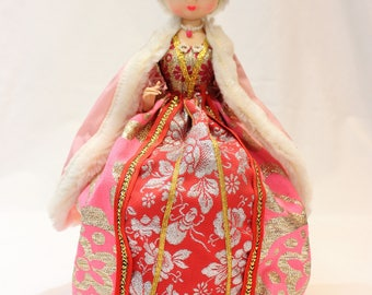 Vintage Bradley Doll in Red and Pink