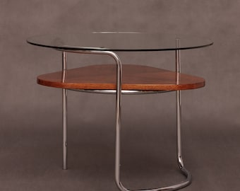 Art Deco tubular steel coffee table from France from 40s